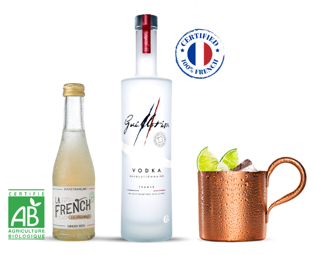 cocktail Moscow Mule 100% french Ginger beer organic La French s'il vous plaît
