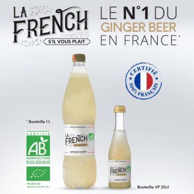 ginger beer numéro 1 en France bio La French s'il vous plaît svp