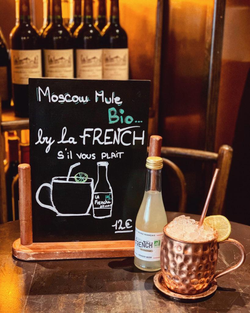 Le Berthoud Paris La French svp bio ginger beer 100% français Moscow Mule cocktail