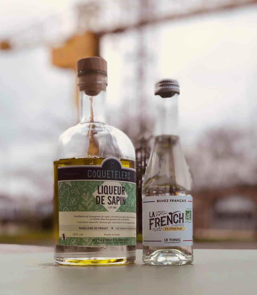 la French svp 100% français bio tonic water côquetelers liqueur de sapin cocktail