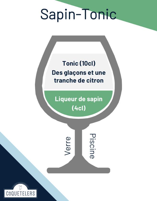 cocktail liqueur sapin tonic français 100% bio la french svp coquetelers