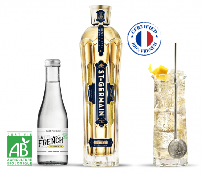 cocktail 100% français la French s'il vous plaît Tonic water bio st germain
