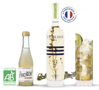 La French s'il vous plaît cocktail génépi Cambusier tonic water bio 100% français