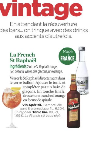 la French svp cocktails 100% French organic tonic water st Raphael